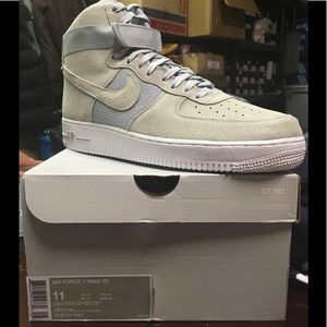 Gray suede Nike Air Force ones size 11